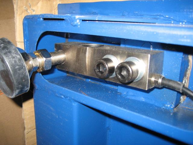 碳钢单层带上下限报警电子小地磅细节解析