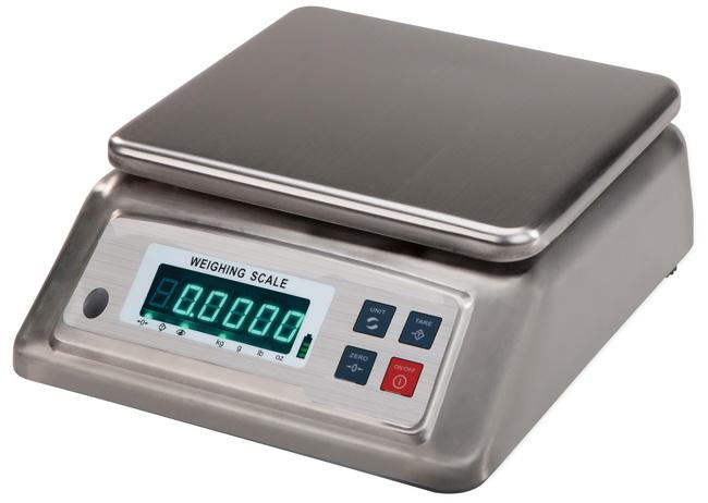 JZC-FWED 纯直流可换电池式不锈钢防水电子桌秤-上海本熙科技