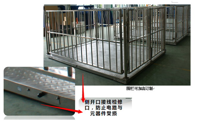 DB321-SS 0.5T 1T 2T 3T 5T 不锈钢电子牲畜秤(动物秤,围栏秤)结构图-上海本熙科技